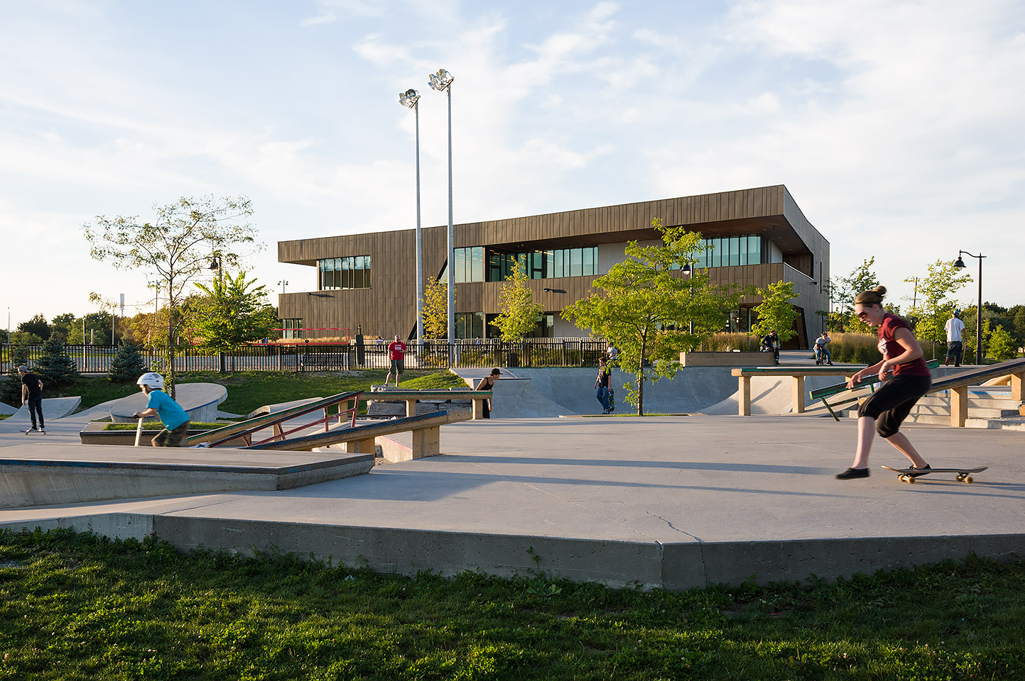 Skate Park and Ski Chalet, Chinguacousy Park, Brampton